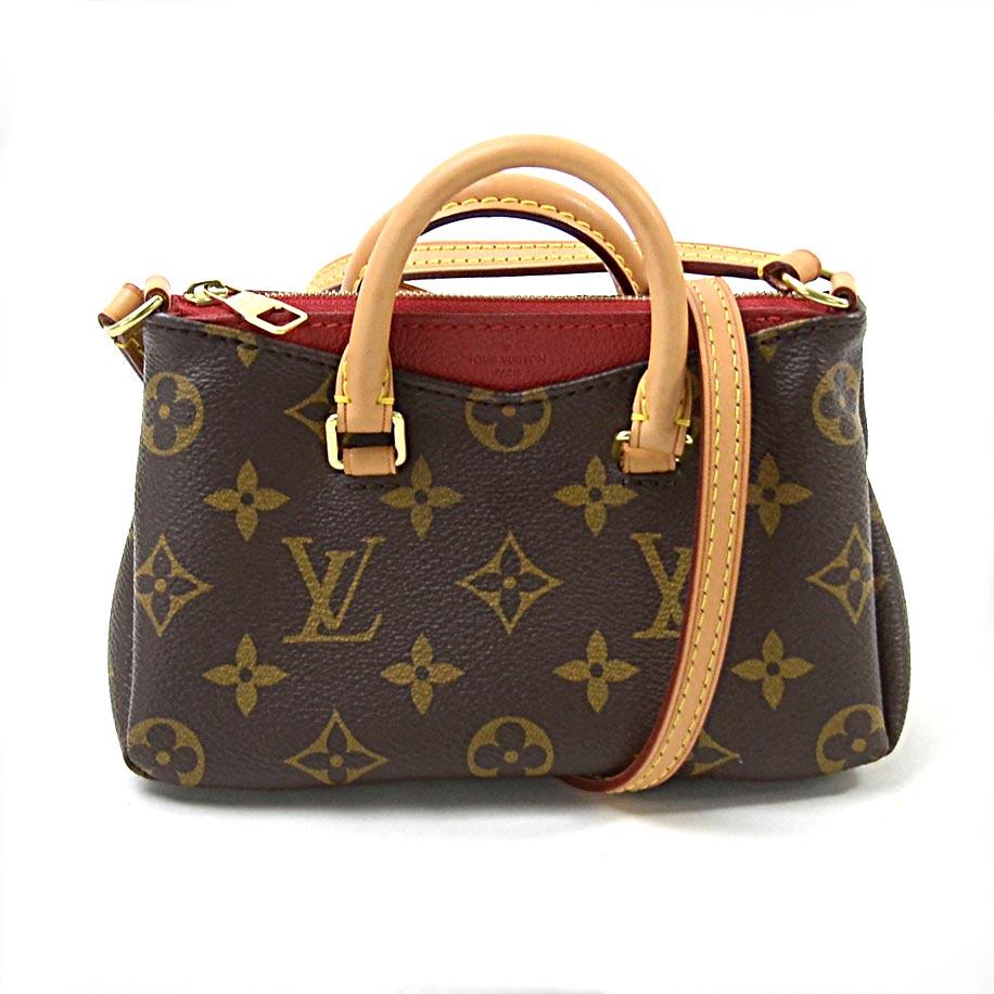 efe2e9ba2f8 Louis Vuitton Louis Vuitton mini-shoulder bag monogram nano Pallas (three)  brown x red monogram canvas Lady's M61254 -93,894