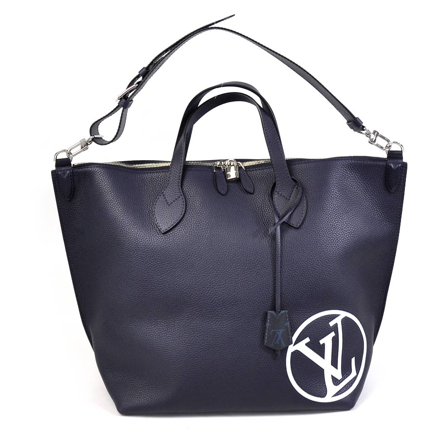 Unused New Article Louis Vuitton Lv Circle East Side ジップドトートハンドバッグトートバッグ 2way Bag Lady Men Dark Navy X Light Blue