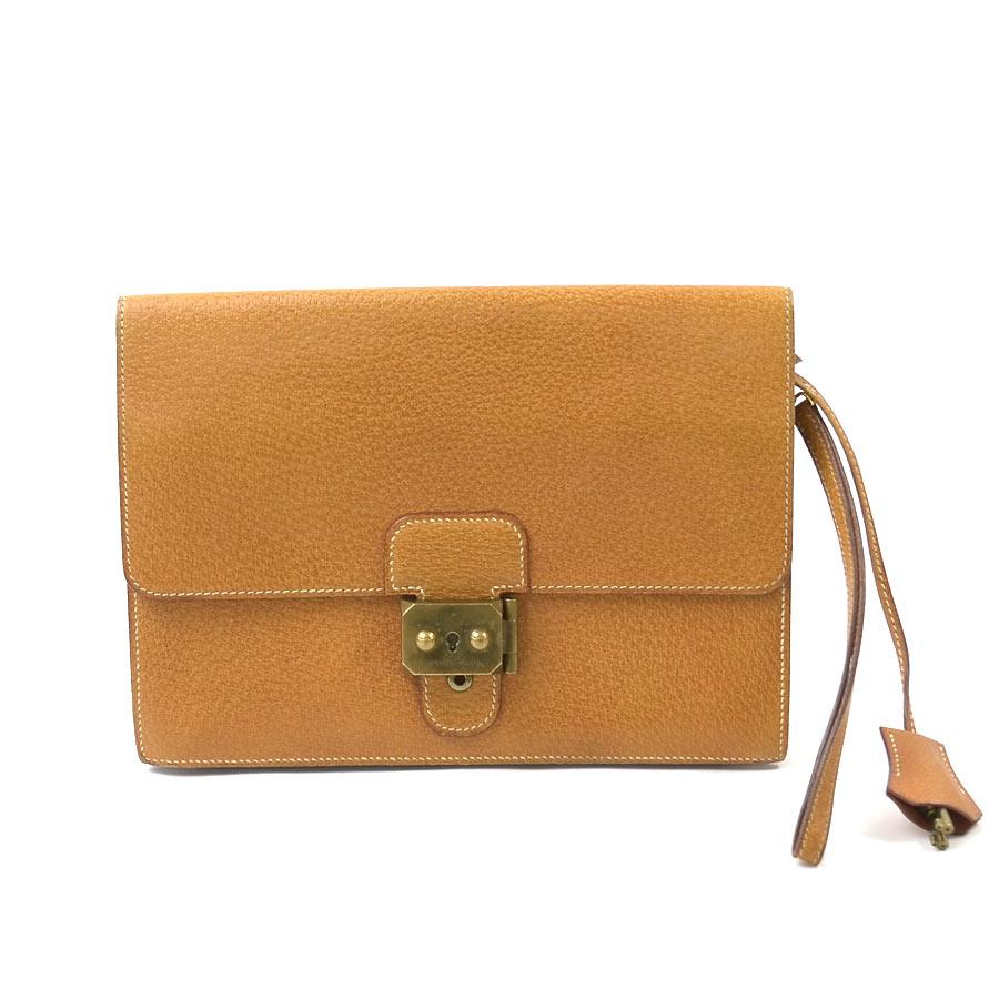 97bcb159acdd  basic popularity   used  Hermes  HERMES  pochette jet clutch bag second bag  Lady s men natural (brown system) pigskin (pork)