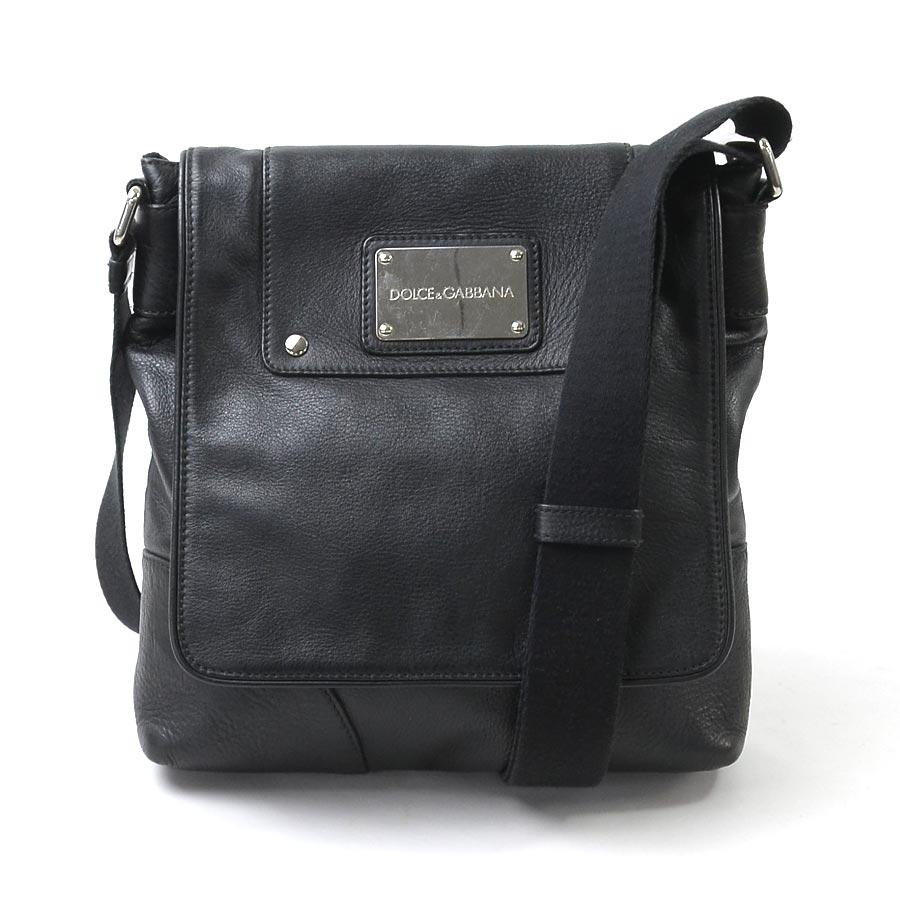 4be08bb41a47  basic popularity   used  take Dolce   Gabbana  DOLCE   GABBANA  slant  shoulder  bag Lady s men black x silver leather