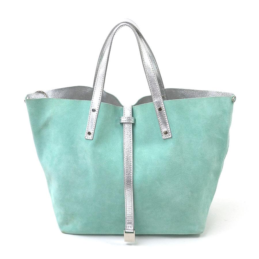 Brandvalue Tiffany Tiffanyco Handbag Tote Bag Reversible Blue X Silver Suede Leather Lady S Y12867 Rakuten Global Market