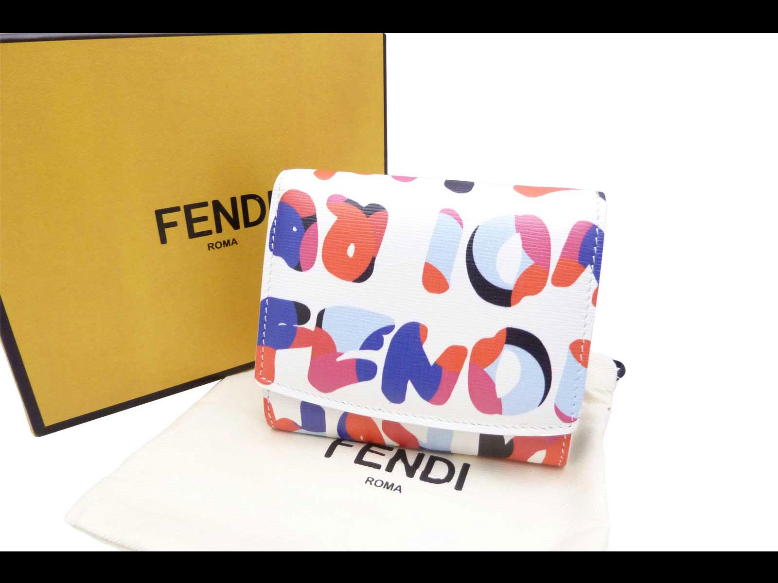 fendi crayon wallet n9eu  Fendi by FENDI purse CRAYONS Fendi Roma  multicolor leather  featured two  fold wallet