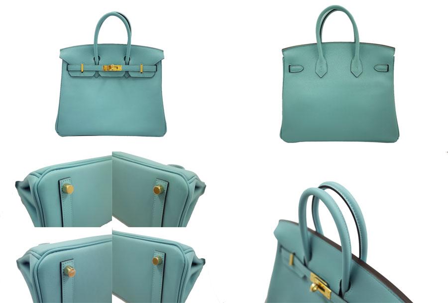 99f4629da1b Hermes HERMES bag Birkin 25 ◇ ブルーアトール (light blue) x gold metal fittings  swift leather ◇ like-new handbag ◇ Lady s - e1015