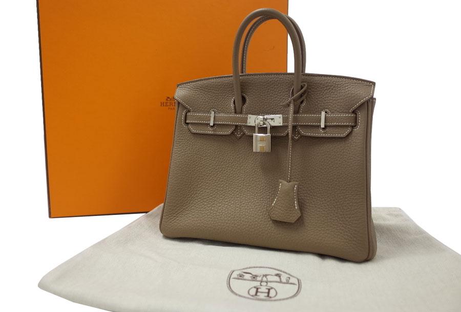 3636e6260e Hermes HERMES bag Birkin Birkin 25 ◇ エトゥープ (graige) x silver metal fittings  Etoupe ...