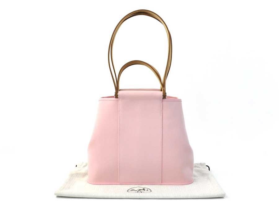 爱马仕HERMES包套子河马Sac Cabag 2Way包◆Sakura Pink粉红x棕色帆布x皮革◆未使用的挎包手提包◆女士◆◆-e23361