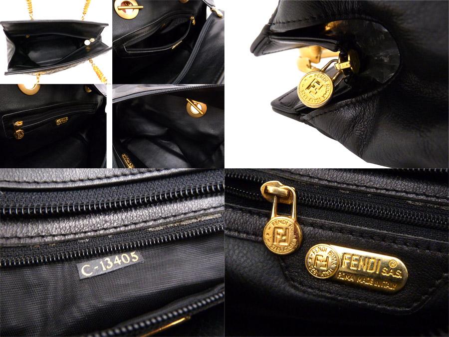 cd4a3b033975 Fendi FENDI bag quilting quilting vintage Vintage ◇ Black Gold gold x black  leather x metal material ◇ constant seller popularity handbag ◇ Lady s - ...