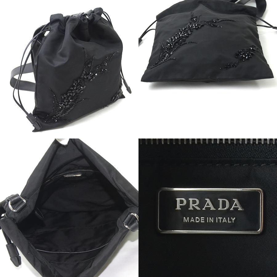 9be2e3823681 ... sale beautiful article it is prada prada triangle logo plate shoulder  bag ladys nero nylon x