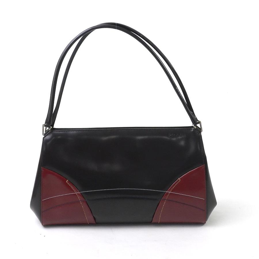 87f6fa113dac  basic popularity   used  Prada  PRADA  shoulder bag Lady s dark brown  system x red leather