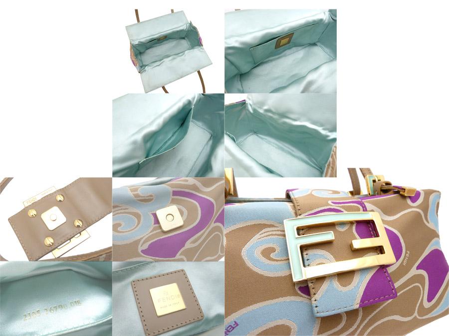 펜디 FENDI 가방 로고 Logo 대리석무늬 Marble◆멀티 칼라 Purple Brown보라색 퍼플 x브라운계 캔버스 x금속 소재◆정평 인기 핸드백 숄더백◆레이디스- e23853