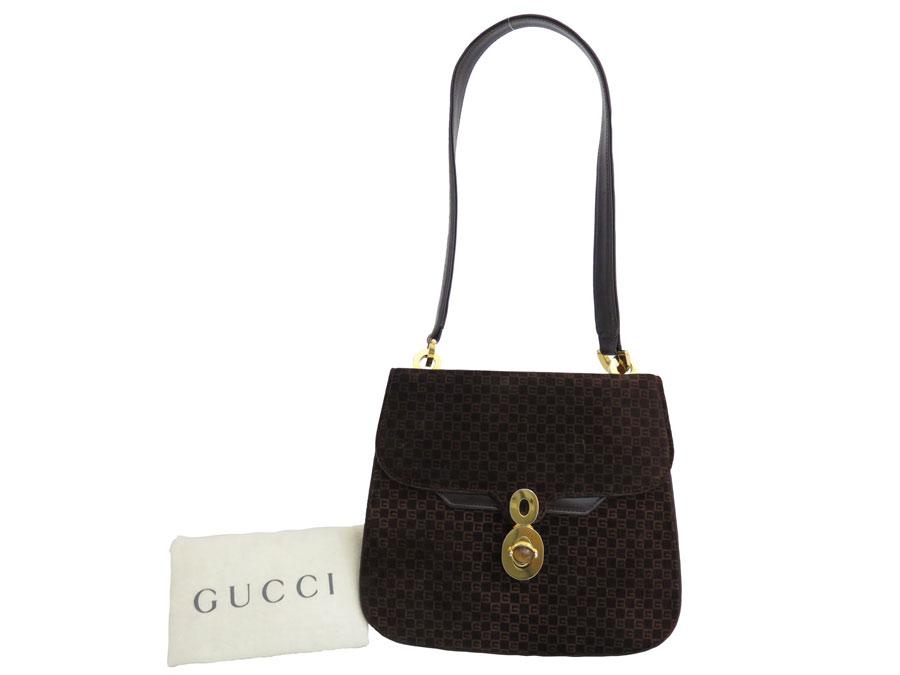 71b9a92edf BrandValue: Gucci Gucci bag old Gucci Old Gucci vintage Vintage logo  pattern ◇ Dark Brown dark brown suede x leather ◇ constant seller  popularity shoulder ...