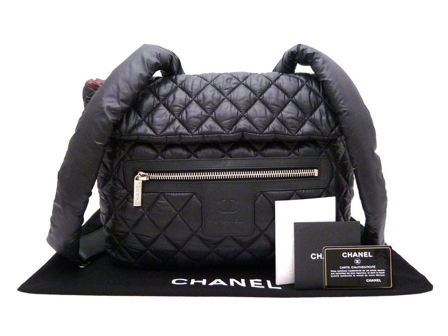 a409a7b00bec Chanel CHANEL bag here mark CC Logo here cocoon Coco Cocoon Quilted  Backpack Bag ◇ Black ...
