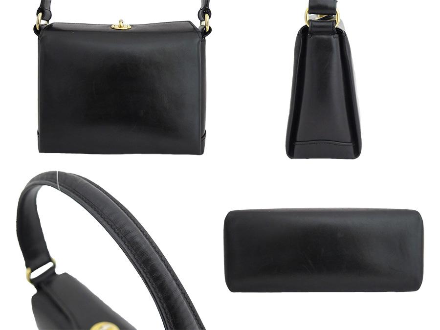 25bfa3d2e5c62b ... Gucci GUCCI bag old Gucci Old Gucci vintage Vintage ◇ Black black black  leather ◇ constant ...