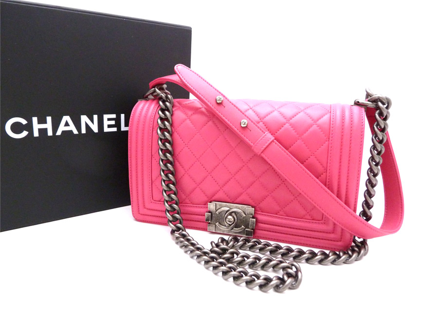 Chanel Bag Here Mark Boy Le Shocking Pink Lambskin Leather Basic Por Super Beautiful Article Recommended