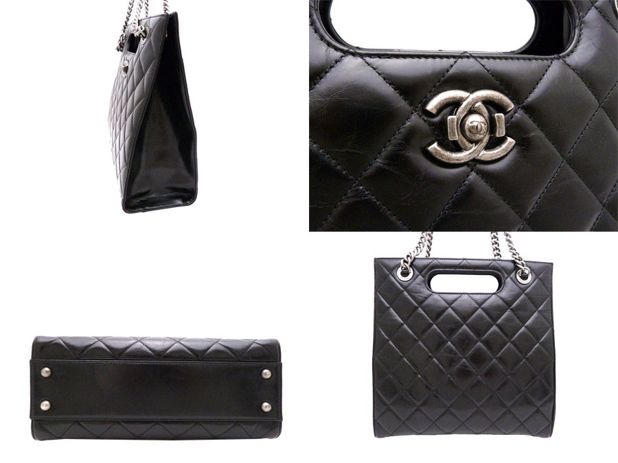 as well as a new article  a Chanel  CHANEL  matelasse Small shopping bag  2Way bag shoulder bag handbag Lady s black x gunmetal metal fittings  calfskin ... 6d92609c4c07e