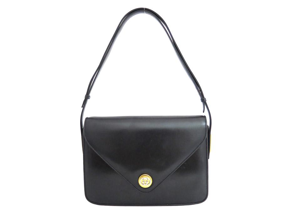 5c050a383dcae3 Gucci GUCCI bag old Gucci Old Gucci vintage Vintage ◇ Black black black  leather ◇ constant ...