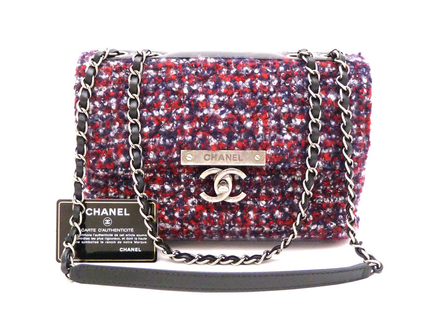 3a2c678bf66c ... quilting Quilted Flap Chain Shoulder Bag bag shoulder bag chain shoulder  lady's Red Blue Gray red blue red x blue x gray Tweed tweed x metal  material x ...