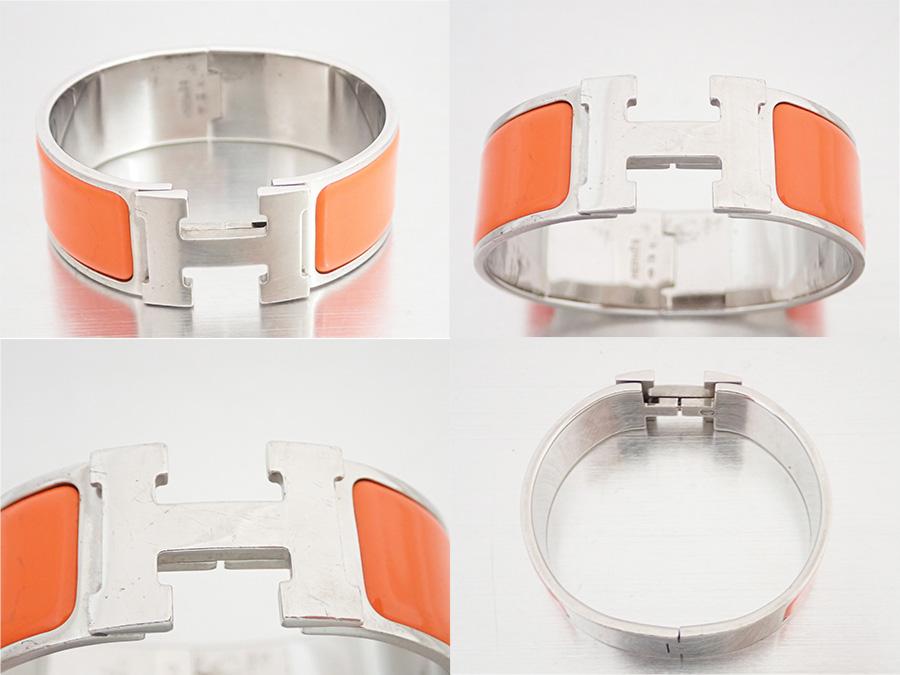 f05dec3caa1 ... where can i buy hermes hermes accessories click crack clic clac h  bangle bracelet silver orange