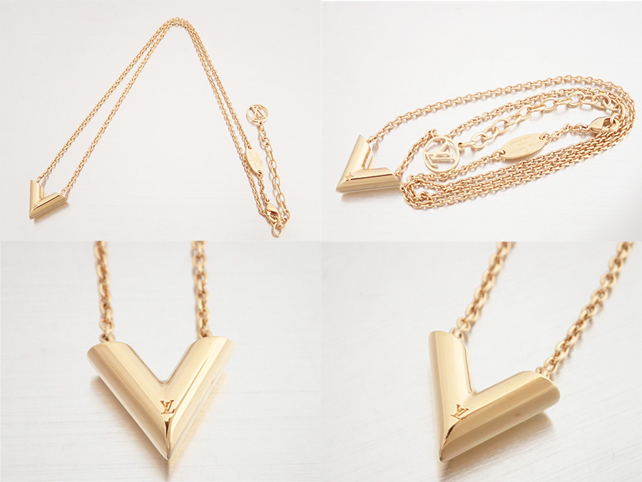 6ee52c5cae78 Louis Vuitton Louis Vuitton accessories essential V Essential V Necklace ◇  Gold gold gold metal material ◇ recommended necklace pendant ◇ Lady s  M61083 - ...