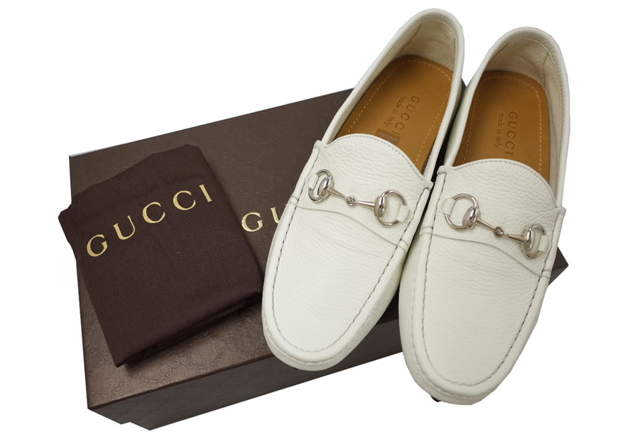 brandvalue 236936 gucci gucci shoes hose bit driving shoes white x