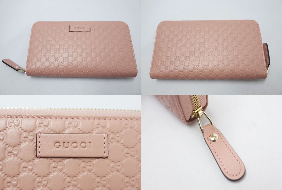 eba4fed41582 ... Gucci Gucci wallet micro GG micro Gucci sima round fastener long wallet  light pink x gold ...