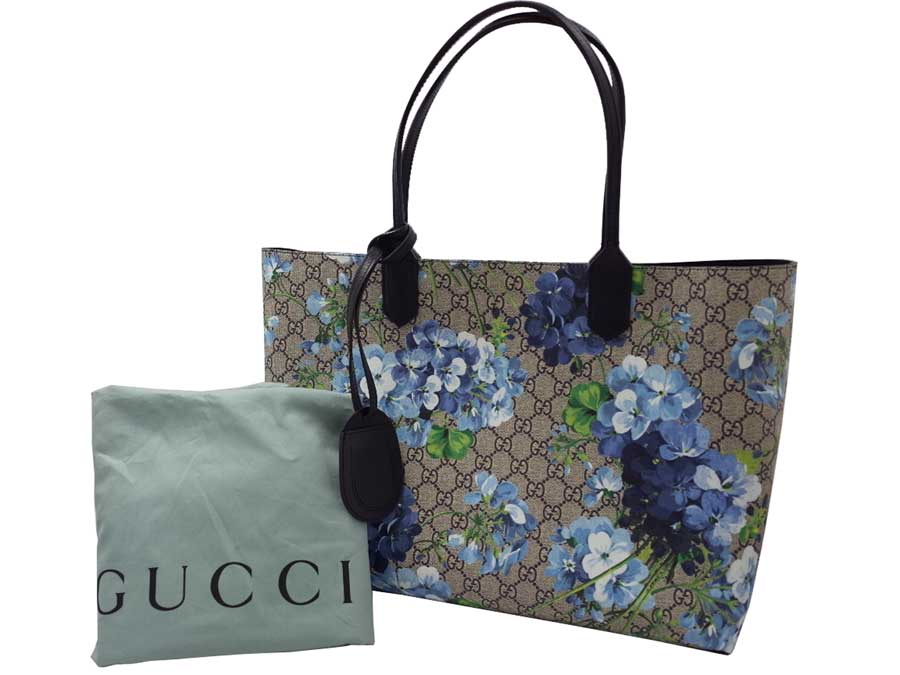 810cf97b459 Gucci  Gucci  bloom sprint GG bloom reversible leather tote bag bag tote bag  shoulder bag Lady s blue x beige   ebony GG leather  new article  display