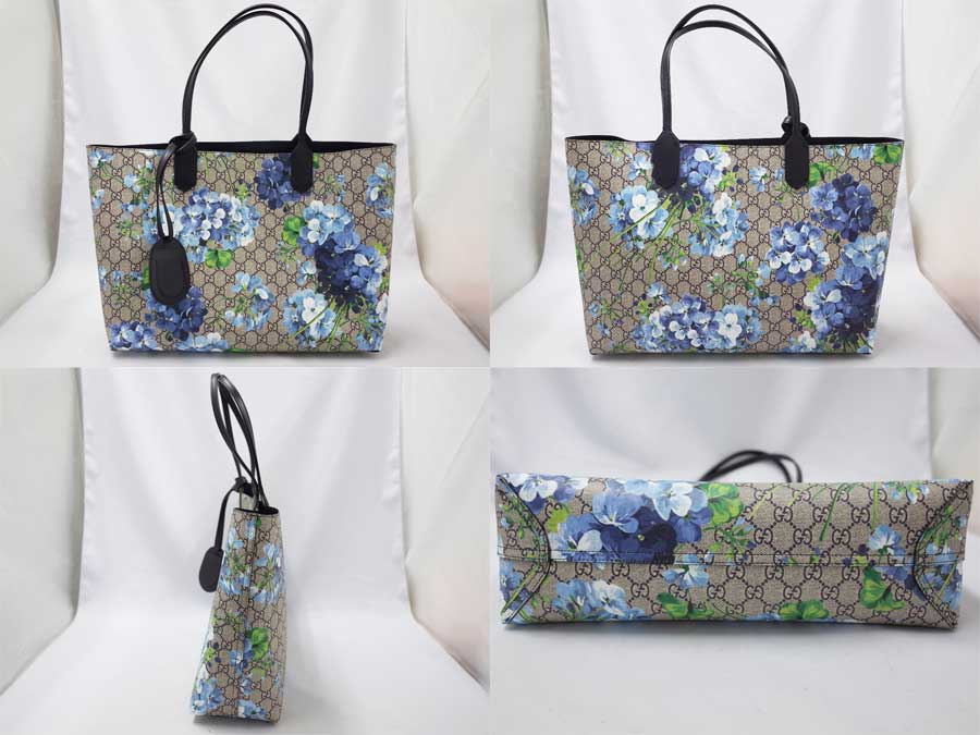 7f5f13eb6 ... Gucci Gucci bag bloom sprint GG bloom reversible leather tote bag blue  x beige / ebony ...