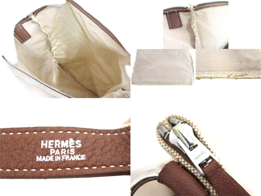 Hermes HERMES bag brown canvas x leather constant seller popularity shoulder bag Lady's men - e26949