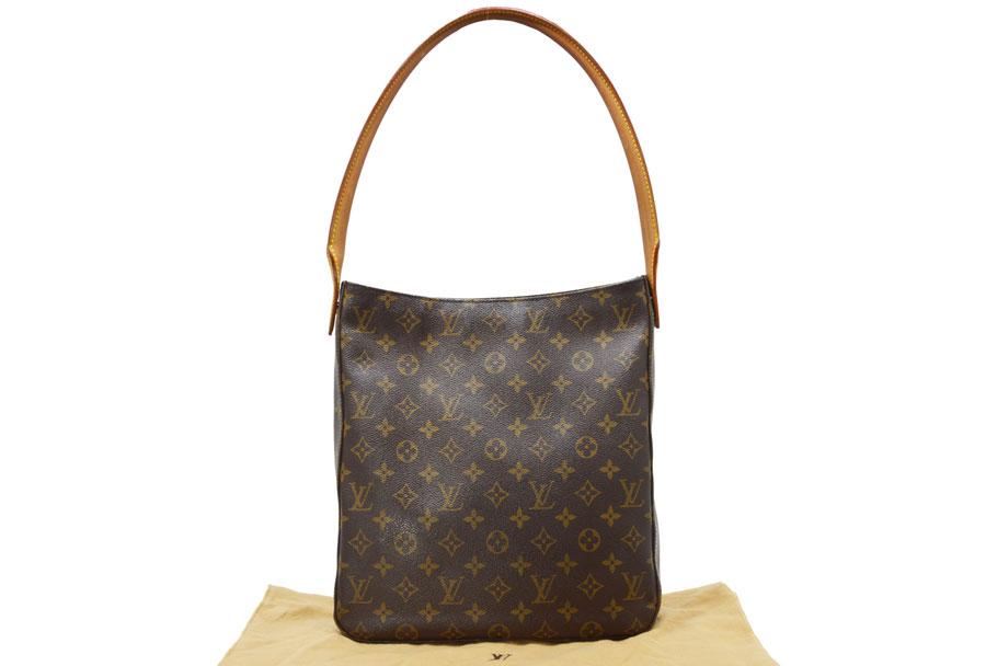 e45d01a887265  used  Louis Vuitton  Louis Vuitton  monogram looping GM bag shoulder bag  one shoulder Lady s brown x gold metal fittings monogram canvas constant  seller ...