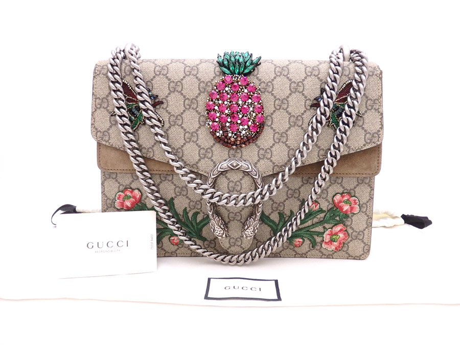 dbb537182ec  used  It is Gucci  Gucci  GG スプリーム Hongkong Exclusive Dionysus デュオニソス Hong  Kong limitation embroidery bag shoulder bag chain shoulder bag Lady s ...