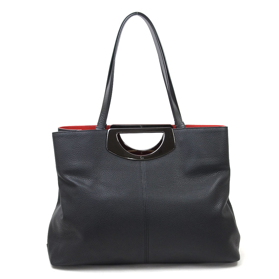 1f28fab55f3 クリスチャンルブタン Christian Louboutin handbag shoulder bag passage shopping black  x red leather x metal material Lady's new article ...