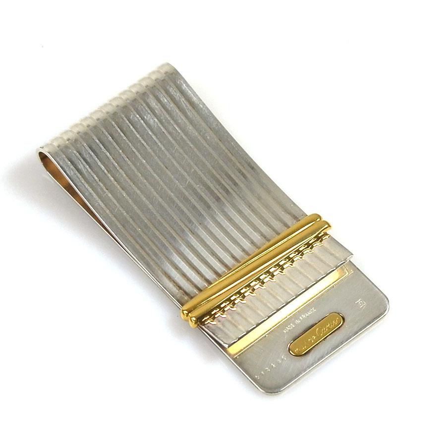カルティエ Cartier マネークリップ シルバーxゴールド 金属素材 レディース メンズ 【中古】【定番人気】 - x2139
