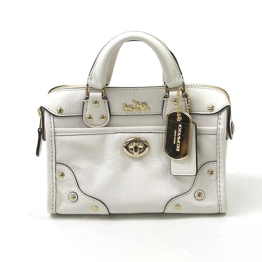ad3c3e64 Take coach COACH mini-handbag slant; pro-shoulder bag 2Way bag off-white x  gold leather x metal material Lady's - x2146