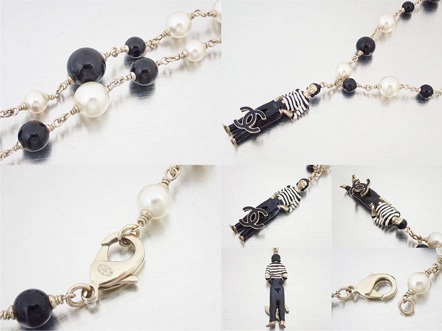 6bd1d51a72fae Chanel CHANEL accessories necklace pearl necklace here mark CC Logo black x  gold x white constant seller popularity case cheap - e28813