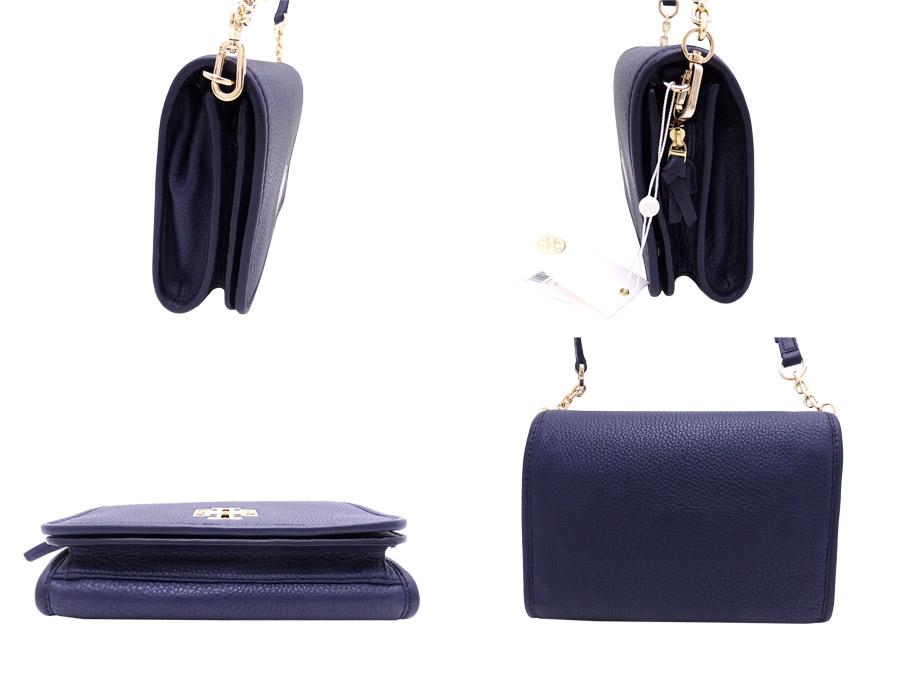 e27a1d7c1492 Tolly Birch TORY BURCH 2Way bag logo navy x gold metal fittings leather x  metal material shoulder bag clutch bag Lady s - e28252