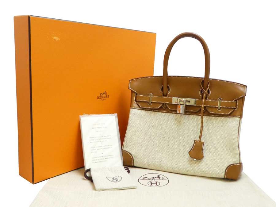 04b172c07d2  basic popularity   used  Hermes  HERMES  Birkin Birkin 30 □ N carved seal bag  handbag Lady s beige x brown x silver metal fittings come out  near x トワル  ...