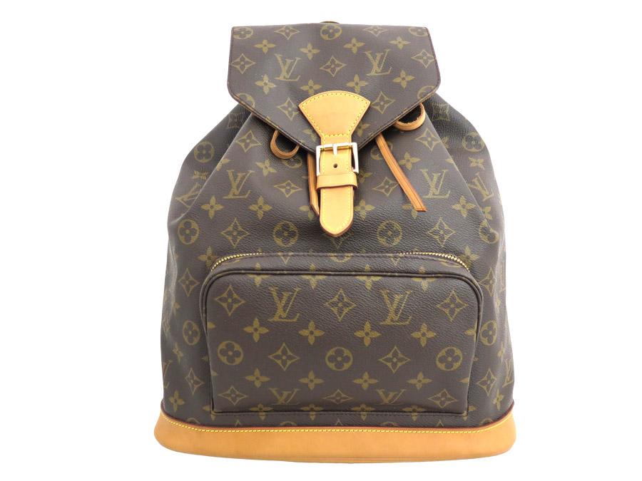 279209c569f0 Louis Vuitton Louis Vuitton rucksack monogram mon pickpocket GM M51135  brown x gold metal fittings monogram canvas backpack bag lady - e29757