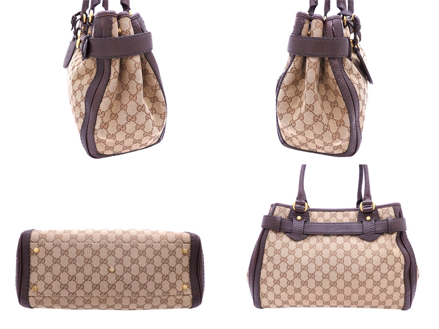 933f34bd899 It is Gucci  Gucci  GG canvas GG running bag handbag tote bag Lady s brown  x gold metal fittings canvas x leather  soot   used