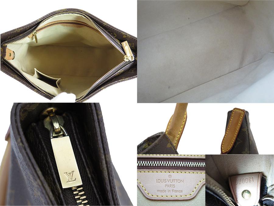 ef4aeb4f19ba  basic popularity   used  Louis Vuitton  Louis Vuitton  M51145 monogram  looping GM shoulder bag tote bag Lady s brown monogram canvas