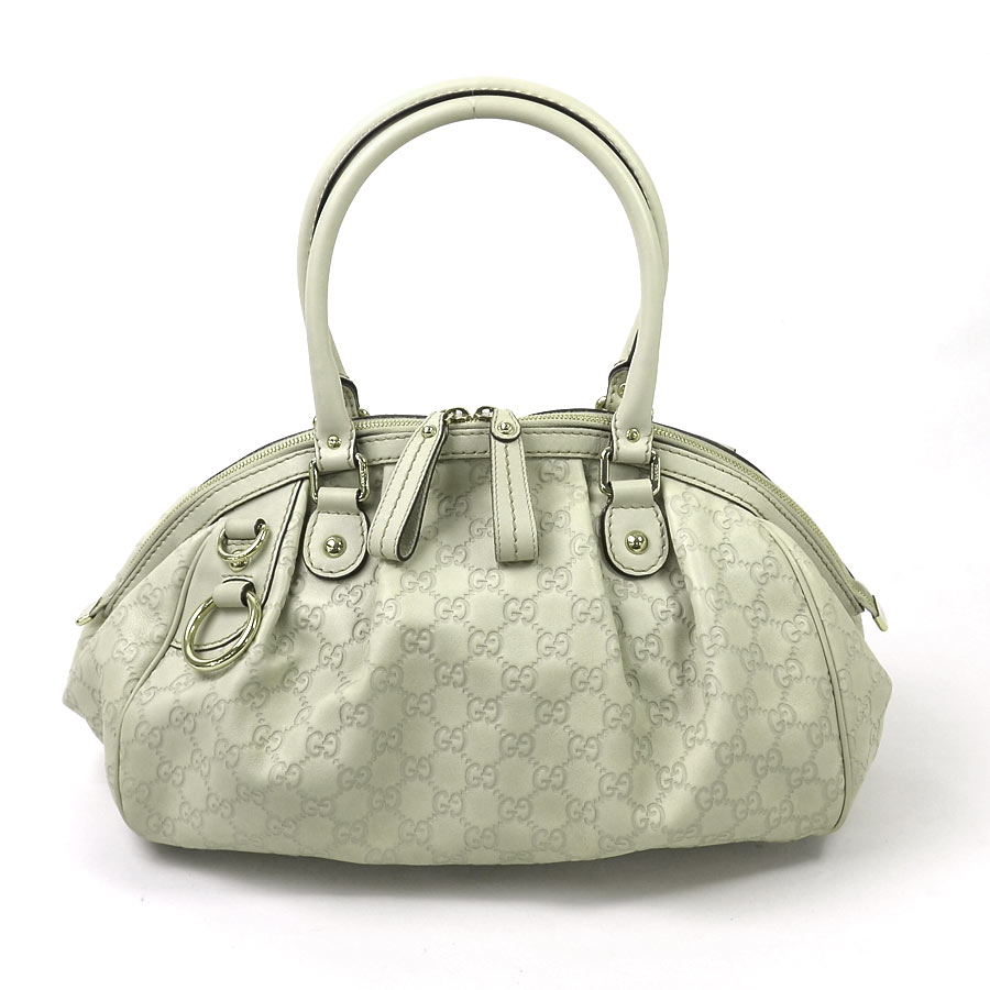 There Is Reason It Gucci Sima Handbag Shoulder Bag 2way Lady Off White System Leather Used