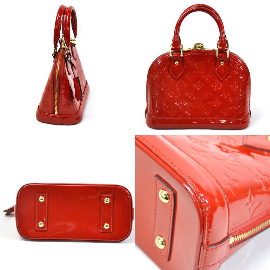 3343808e6724  basic popularity   used  Louis Vuitton  Louis Vuitton  monogram ヴェルニアルマ BB  handbag Lady s three (red) patent leather