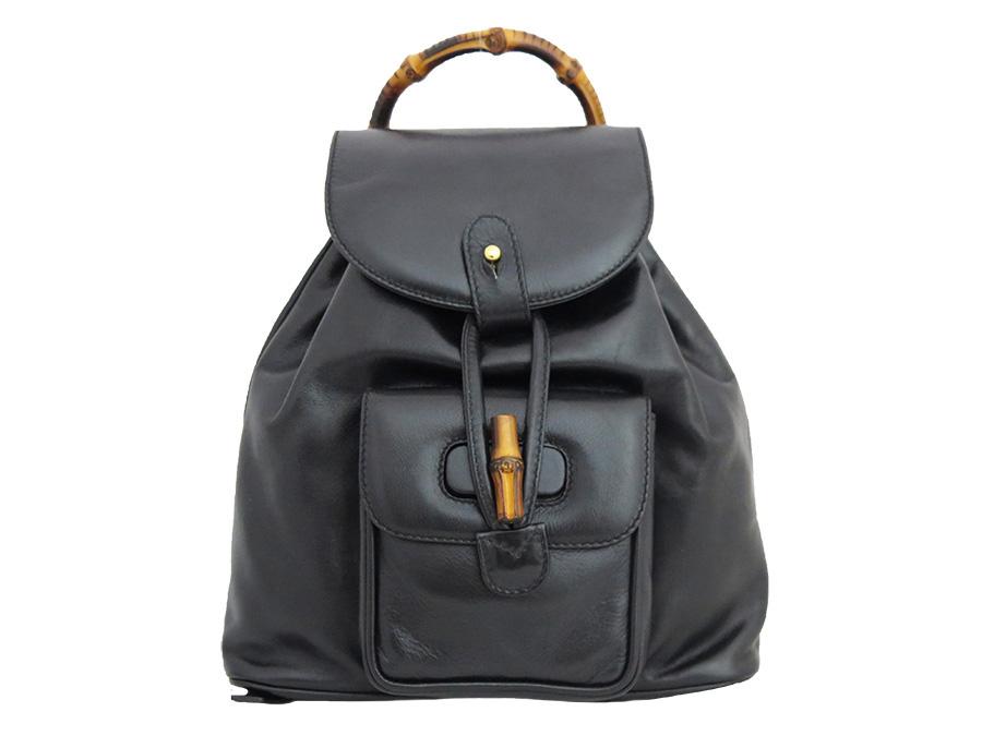 Gucci Gucci rucksack bamboo black x gold metal fittings leather x bamboo  mini ruck backpack Lady s - e30451 b1cf1d32bc