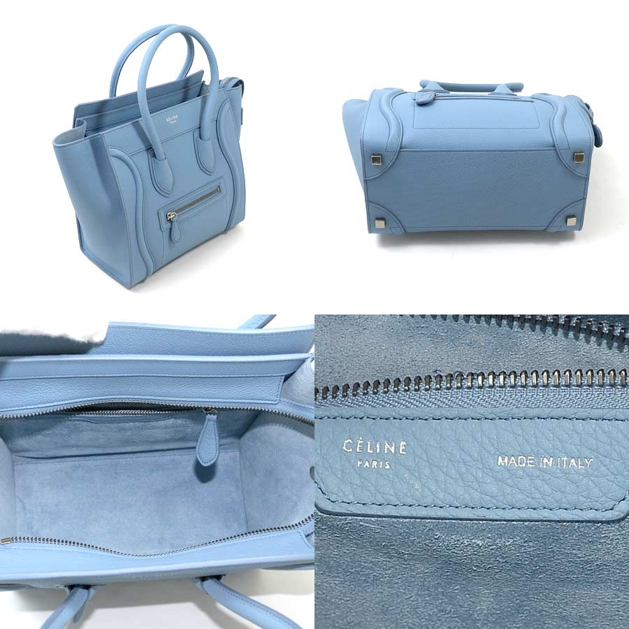 It Is Celine Luggage Micro Per Handbag Lady S Mho Keeve Roux Leather As Well A New Article Used