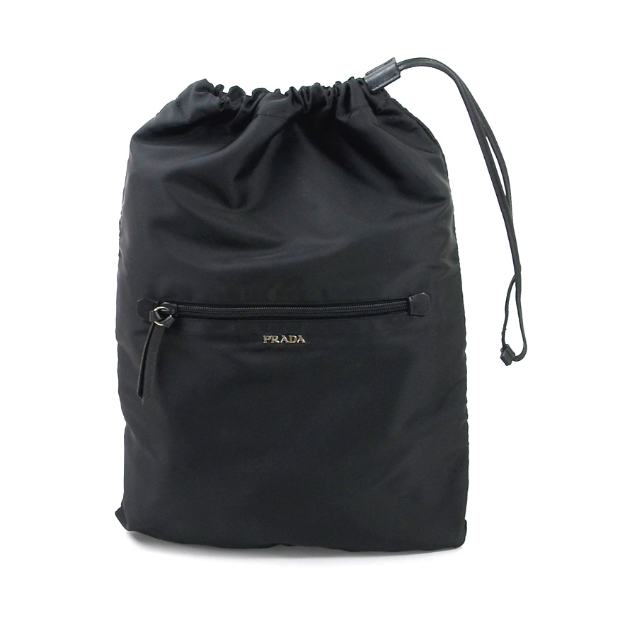 87ca2e18 Prada PRADA drawstring purse bag black nylon Lady's men - x2201