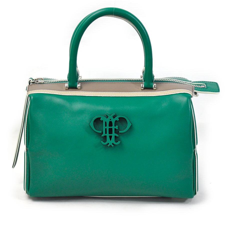 Beautiful Article It Is Emilio Putsch Pucci Handbag Shoulder Bag 2way Lady Green Leather Used