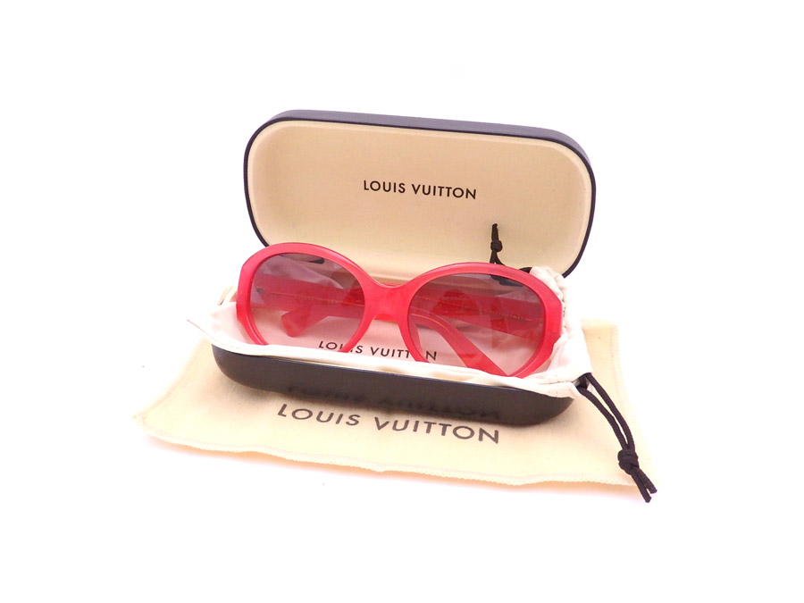b862283ecb  basic popularity   used  Louis Vuitton  LOUIS VUITTON  monogram sunglasses  logo sunglasses fashion glass Lady s pink x gold plastic