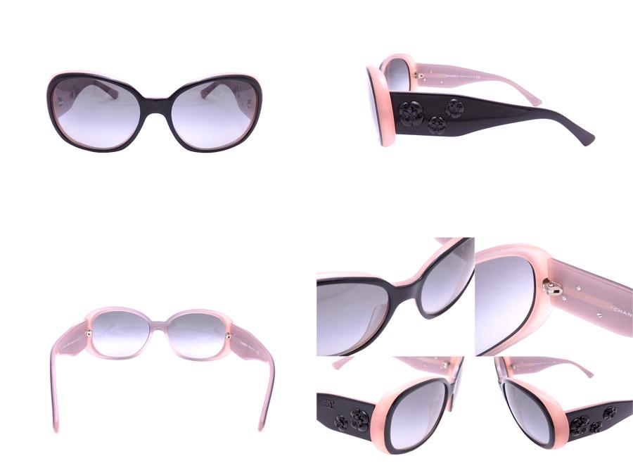 481e04374d Chanel CHANEL sunglasses camellia black x pink plastic fashion glass by  colored glass Lady s - e31031