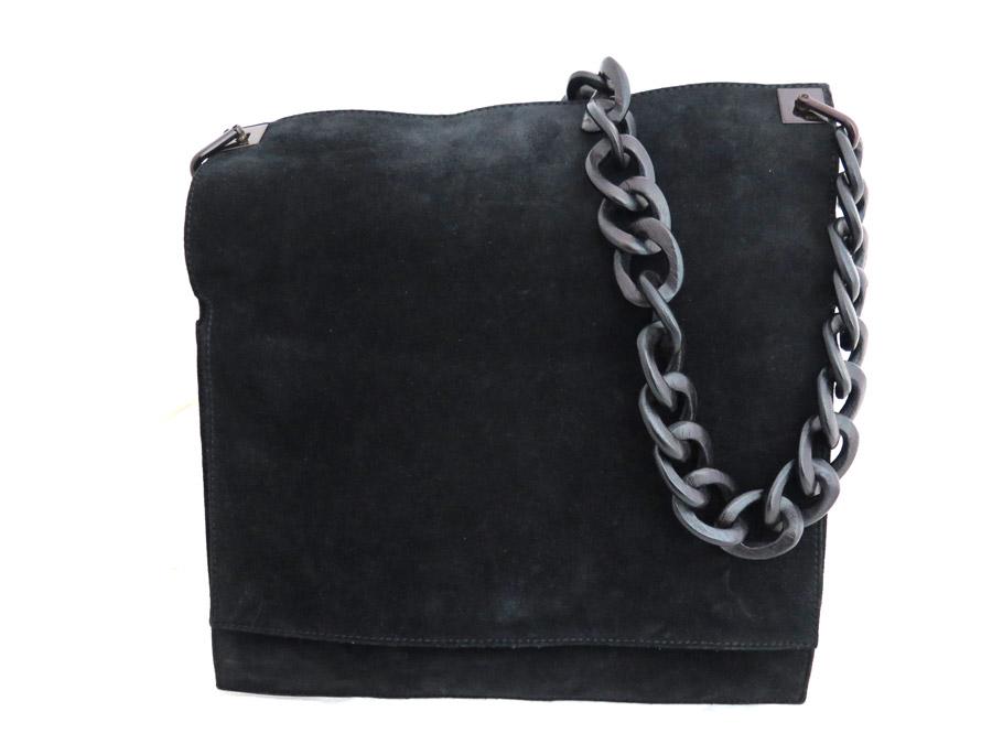 adde8ef6db BrandValue: It is bag Wood chain black x dark brown suede x Wood Lady's -  e31748 at Gucci Gucci logo shoulder bag bias | Rakuten Global Market