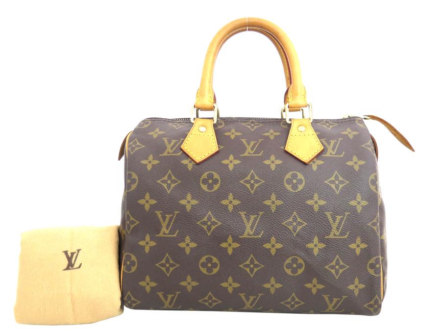 It is Louis Vuitton  LOUIS VUITTON  monogram speedy 25 bag handbag mini-Boston  bag Lady s brown x gold metal fittings monogram canvas  soot   used  16d7c10d62