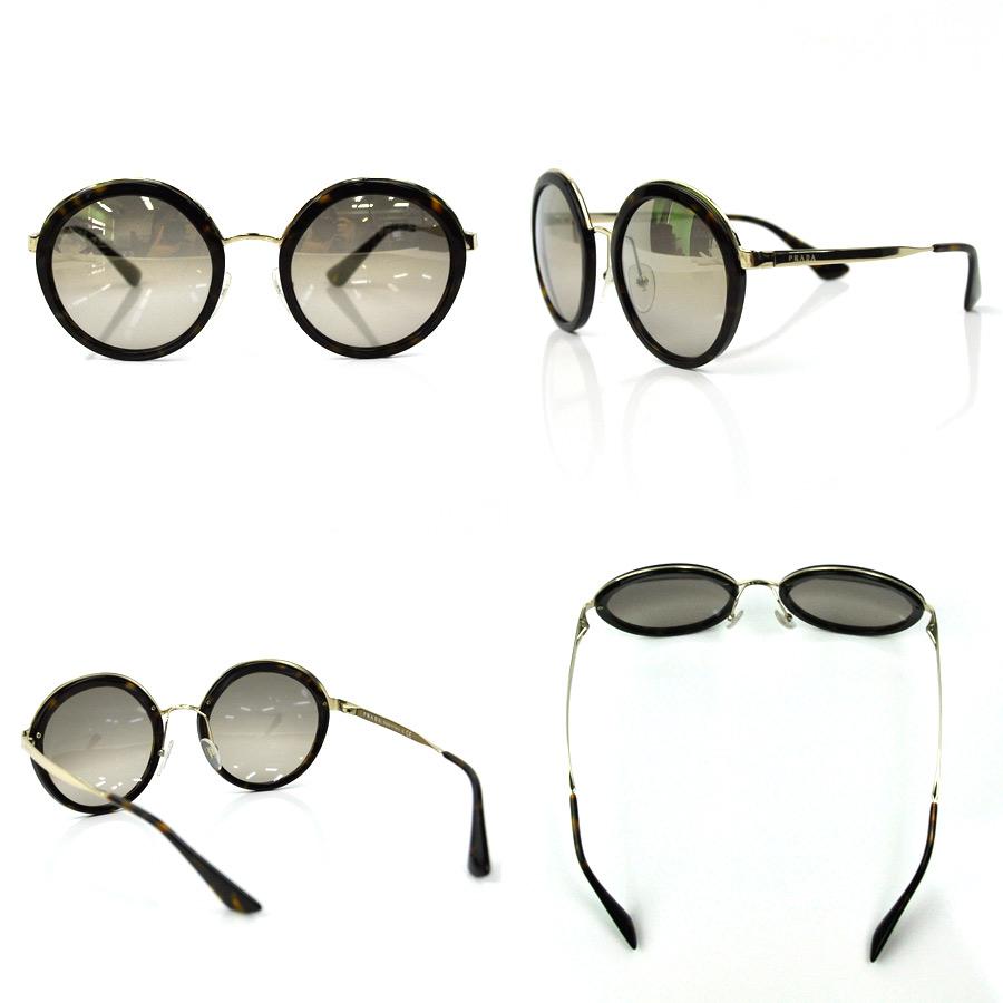 525c8d34aa  basic popularity   used  a Prada  PRADA  sunglasses 54 □ 23 140 lady s  men s lens  A dark gray gradation frame  Tortoiseshell x gold-collar metal  material ...