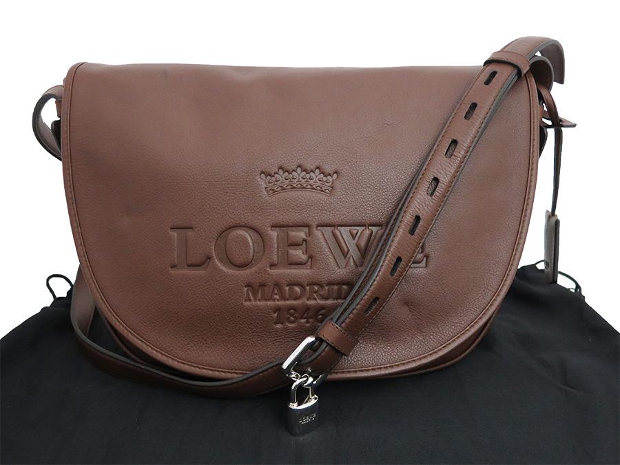 It Is Shoulder Bag Brown Leather Lady S E32299 At Loewe Heritage Bias